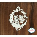 Чипборд Снеговик и Ангел, 8*10см