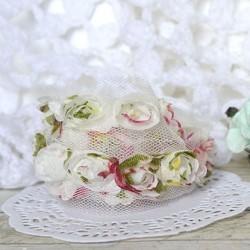 """Лента """"Розы"""" разноцветная, 15*100мм"""