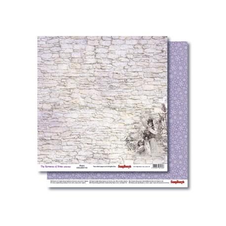 Бумага для скрапбукинга 30,5х30,5 см 190 гр/м двусторон Новогодний Пейзаж Вьюга (1шт)