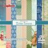 Набор бумаги для скрапбукинга 15х15 см 190 гр/м Курортный Роман, 24 листа