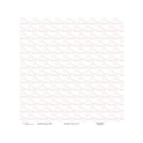 """Бумага для скрапбукинга 30,5х30,5 см 200 гр/м одностор Каралики, """"Supergirl"""", 1л."""