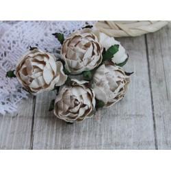 Английская роза, цвет сливочный, 30мм, 1 цветок