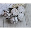Английская роза, цвет белый, 30мм, 1 цветок
