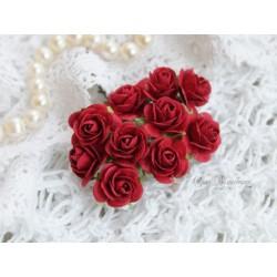 Роза Мальбери, цвет бордовый, 20мм, 1 цветок