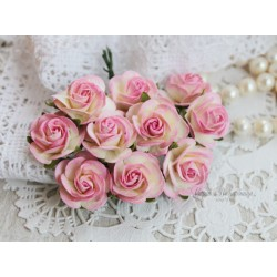Роза Мальбери, цвет сливочный с нежно-розовой окантовкой, 1 цветок
