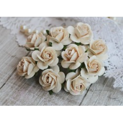 Роза Мальбери, цвет темный сливочный, 1 цветок