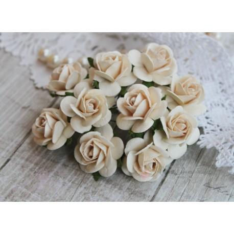 Роза Мальбери, цвет темный сливочный, 25мм, 1 цветок