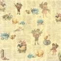 Бумага для скрапбукинга 30,5х30,5 см 180 гр/м двусторон Весенний Праздник Незабудка