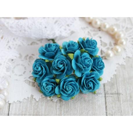 Роза Мальбери, цвет темно-бирюзовый, 20мм, 1 цветок
