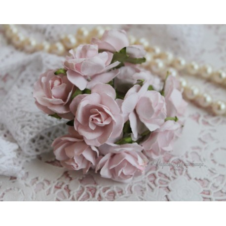 Дикая роза, цвет нежно-розовый, 3см, 1 цветок