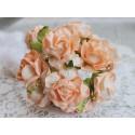 Дикая роза, цвет персиковый, 4см, 1 цветок