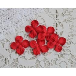 Цветы гортензии, цвет красный, 25мм, 10 цветочков