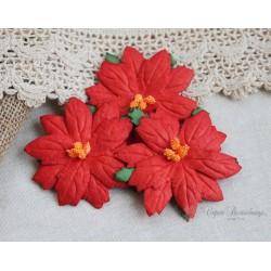 Пуансетия, цвет красный, 6.5см, 1шт