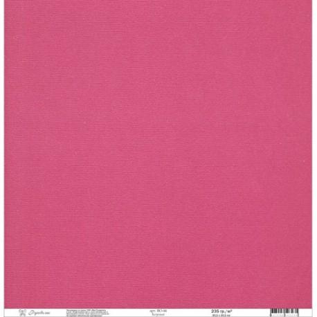 "Кардсток текстурированный ""Рукоделие"" 235г/м2, 305х305мм, 1 лист, багровый BO-44"