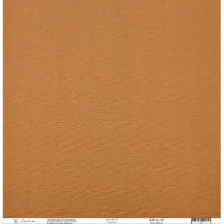 """Кардсток текстурированный """"Рукоделие"""" 235г/м2, 305х305мм, 1 лист, глиняный BO-03"""