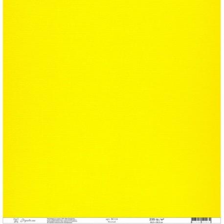 """Набор текстурированной бумаги""""Рукоделие"""" 235г/м2, 305х305мм, 1 лист, желтый BO-14"""