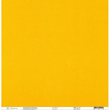 """Кардсток текстурированный """"Рукоделие"""" 235г/м2, 305х305мм, 1 лист, мандарин BO-11"""