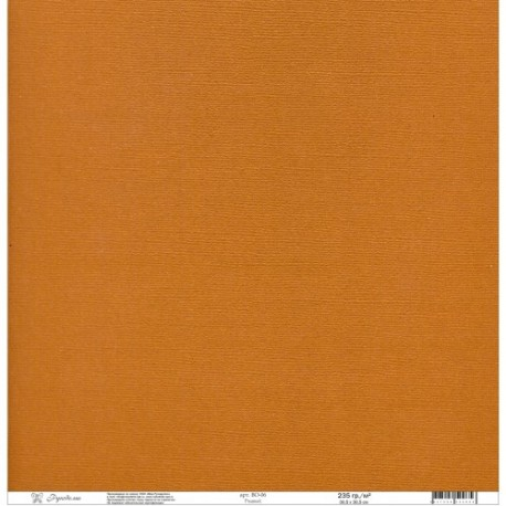 "Кардсток текстурированный ""Рукоделие"" 235г/м2, 305х305мм, 1 лист, ржавый BO-06"
