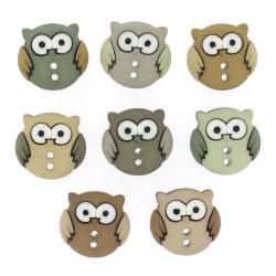 """Декоративные пуговицы """"Sew cute owls"""" от Dress It Up"""
