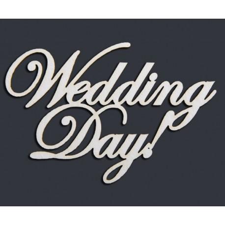 """Чипборд-Надпись """"Wedding DAY"""""""