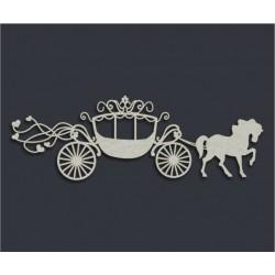 Чипборд Карета для принцессы