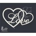 Чипборд Сердце Love