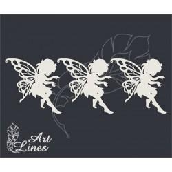 Чипборд Маленькая фея набор 3шт (размер 1 феи 6х6см)