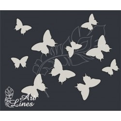 Чипборд Набор бабочек №2(1,5х2см,2х3см)