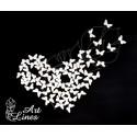 Чипборд Набор бабочек №3(2см размах крыльев) 50шт
