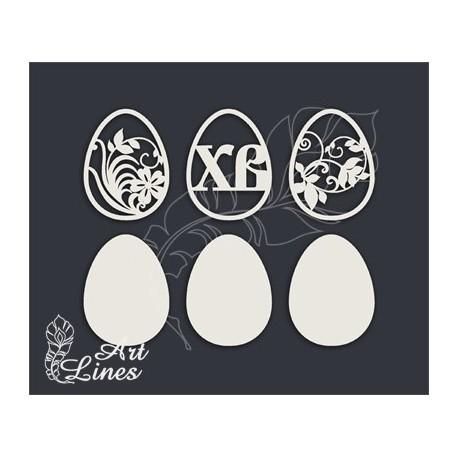 Чипборд Пасхальные яйца