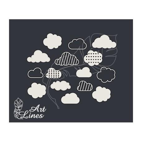 Чипборд Набор облака
