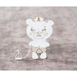 Чипборд Мишка с корабликом