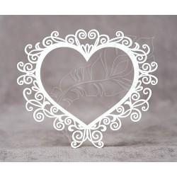 Чипборд Рамка сердце №3