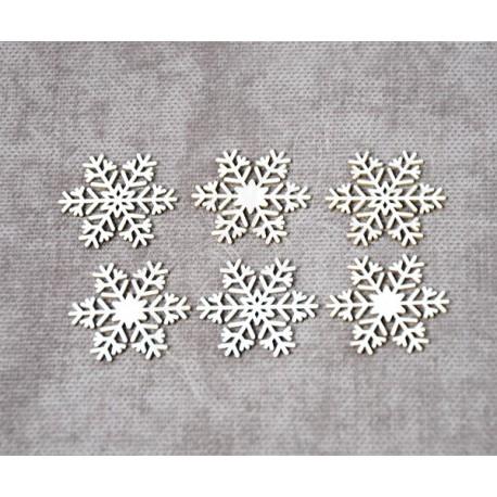 Чипборд Набор снежинки №4 (6 элементов)