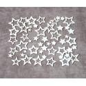 Чипборд Набор звёзды (50 элементов)