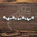 Чипборд Бордюр из цветочков и бабочек