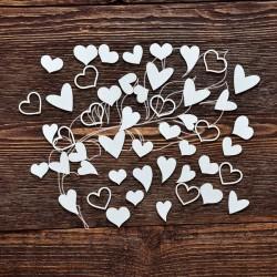 Чипборд Набор сердечки (50 элементов)