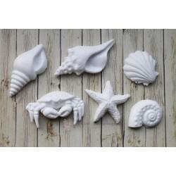 """Пластиковые фигурки """"Парящие ангелы"""", 37*25 мм и 42*24 мм, 2шт."""
