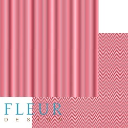 """Лист бумаги для скрапбукинга """"Яркий красный"""", коллекция """"Чисто и просто Базовая"""", 30х30, плотность 190 гр FD1003504"""