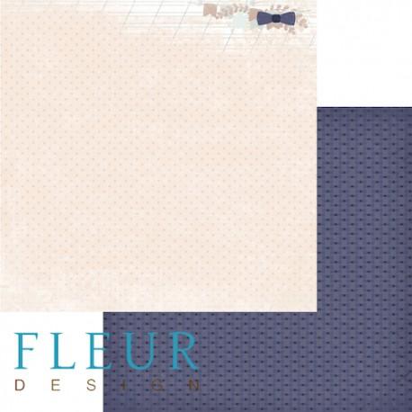"""Лист бумаги для скрапбукинга """"Жених"""", коллекция """"Наша свадьба"""", 30х30, плотность 190 гр FD1003705"""