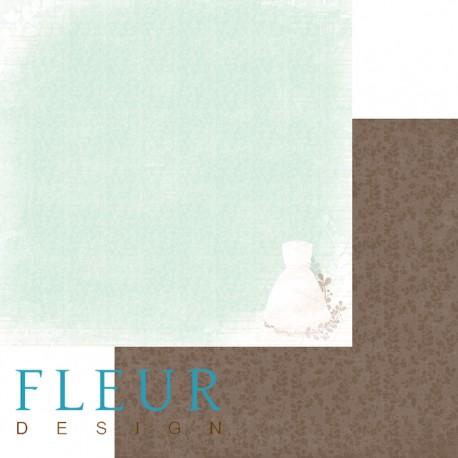 """Лист бумаги для скрапбукинга """"Невеста"""", коллекция """"Наша свадьба"""", 30х30, плотность 190 гр FD1003707"""