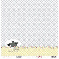 Бумага для скрапбукинга 30,5х30,5 см 190 гр/м, односторон Лес Чудес Лесные друзья, (1шт)