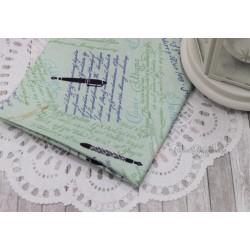 Ткань Письмо на розовом, х/б, 45*55см.