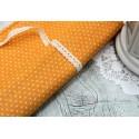 Ткань Белый горошек на оранжевом, 50*80см.
