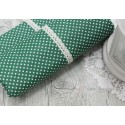 Ткань Белый горошек на светло-зеленом, 50*77см.