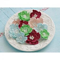 Набор бумажных цветов, коллекция Wieczne Lato, 16шт