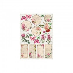 "Карточки ""Vintage Time - Labels 1"", А4, 250гр/м"