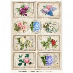 "Карточки ""Vintage Time 001"", А4, 250гр/м"