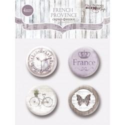 Набор скрап-фишек для скрапбукинга 4шт от Scrapmir French Provence