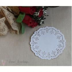 Салфетка ажурная, цвет белый, по размерам, 1шт